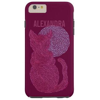 Gato rojo y el gatito felino del amante del gato funda resistente iPhone 6 plus