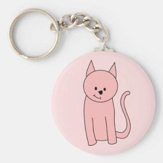 Gato rosado bonito lindo llavero