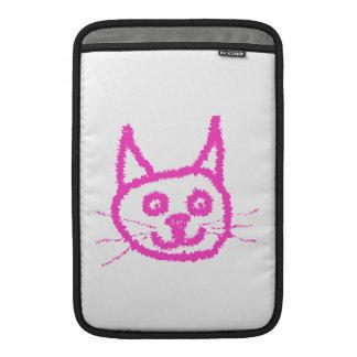 Gato rosado brillante funda macbook air