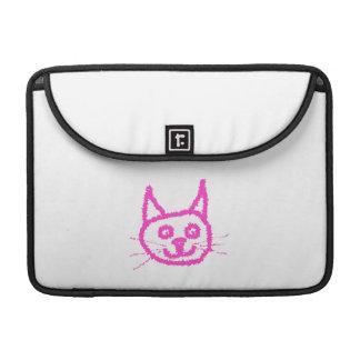 Gato rosado brillante fundas para macbooks