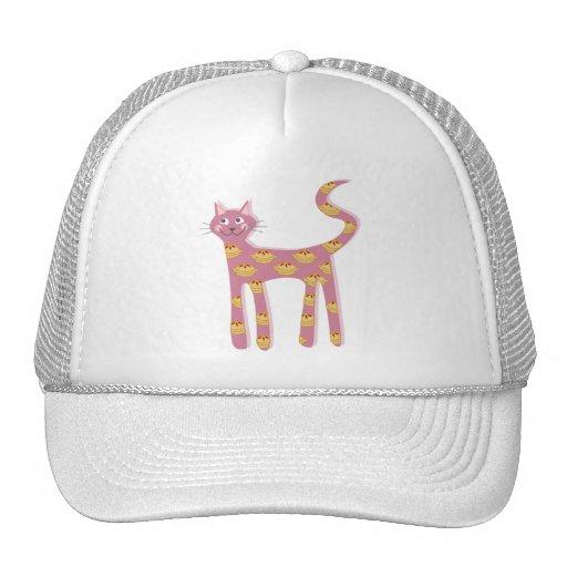 Gato rosado de Kawaii con el modelo de la empanada Gorro