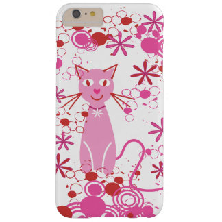 Gato rosado de lujo funda de iPhone 6 plus barely there