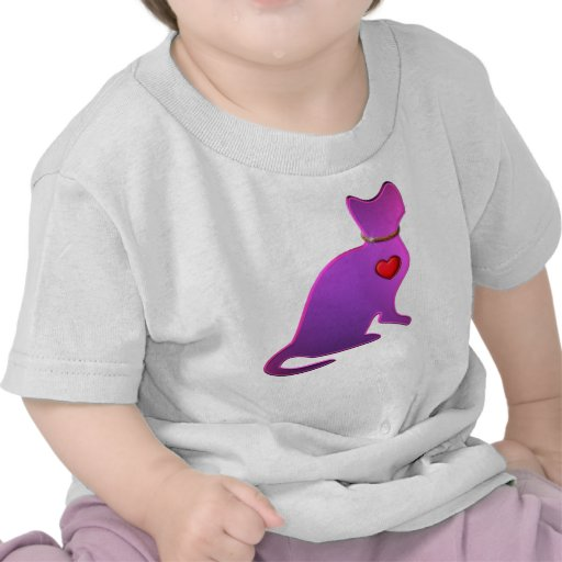 Gato rosado del gatito camisetas