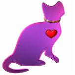 Gato rosado del gatito escultura fotografica