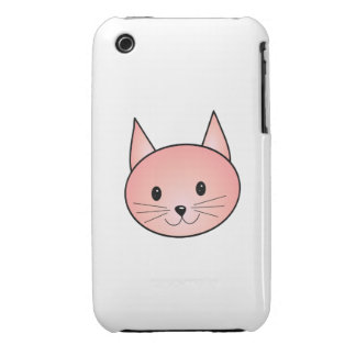 Gato rosado. Gatito adorable Funda Bareyly There Para iPhone 3 De Case-Mate