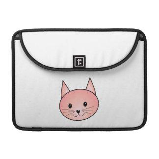 Gato rosado Gatito adorable Fundas Macbook Pro