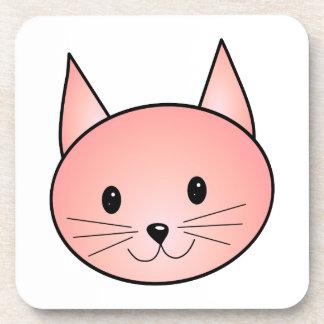 Gato rosado. Gatito adorable Posavaso