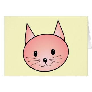 Gato rosado. Gatito adorable Tarjeta Pequeña