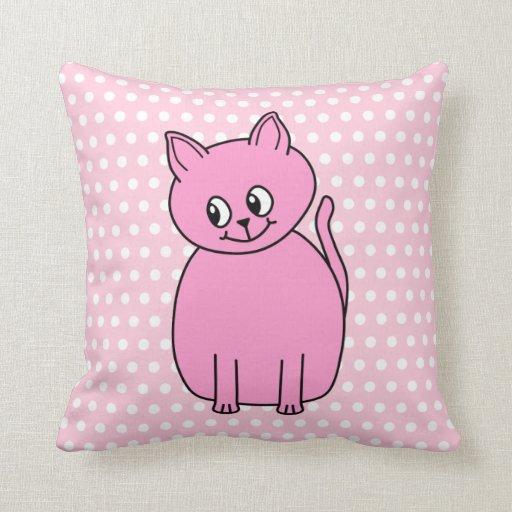 Gato rosado lindo almohadas