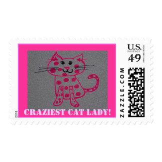 ¡gato rosado, los sellos más locos de la señora de