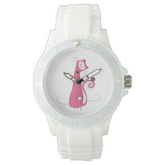 Gato rosado relojes de mano