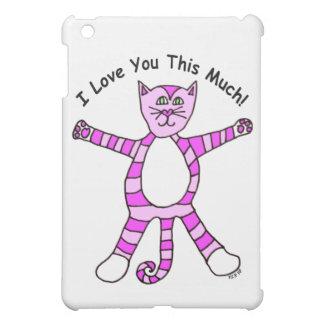 "Gato rosado ""te amo este mucho """