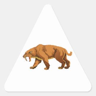 gato Sable-dentado Pegatina Triangular