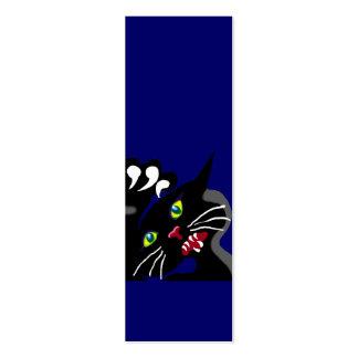 Gato salvaje de Ninja Tarjetas De Visita Mini