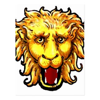 gato salvaje del gran juego del león del ing postales