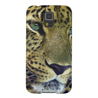 Gato salvaje del leopardo hermoso carcasas de galaxy s5