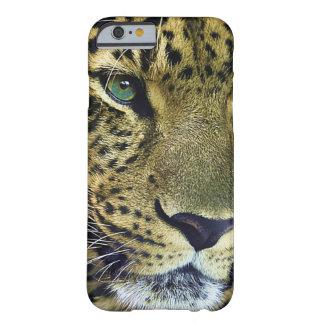 Gato salvaje del leopardo hermoso funda de iPhone 6 barely there