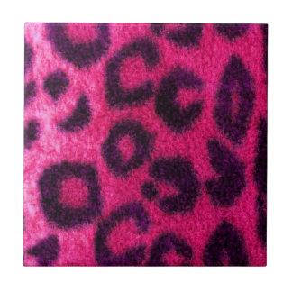 Gato salvaje manchado del leopardo rosado teja  ceramica