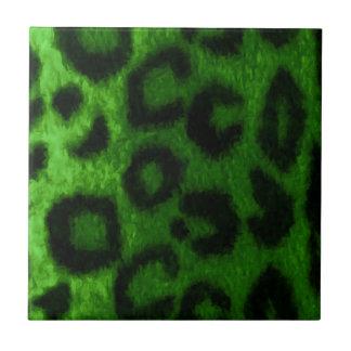 Gato salvaje manchado del verde del leopardo tejas  cerámicas