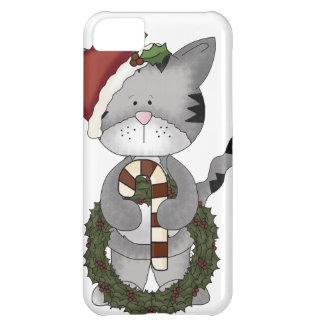 Gato Santa del navidad Funda iPhone 5C