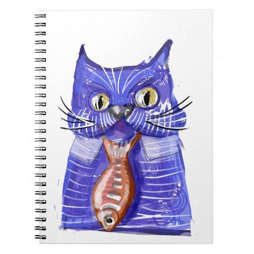 Gato serio cuaderno
