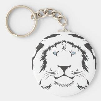 Gato serio del león llavero