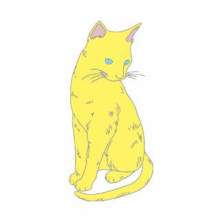 Gato siamés amarillo escultura fotografica