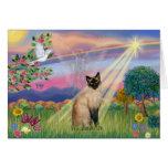 Gato siamés - ángel de la nube felicitacion