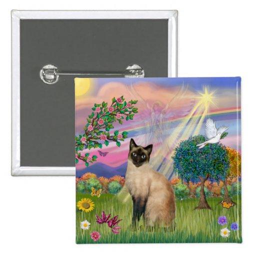 Gato siamés - ángel de la nube pins