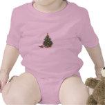 Gato siamés con el árbol de navidad traje de bebé