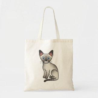 Gato siamés del punto del lince bolsa