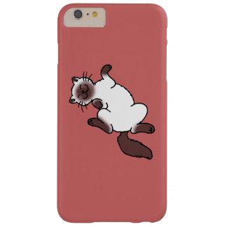 Gato siamés del punto lindo del chocolate funda de iPhone 6 plus barely there