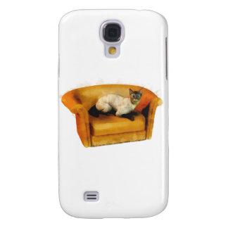 Gato siamés del sofá funda para galaxy s4