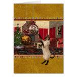 Gato siamés - Felices Navidad - tarjeta