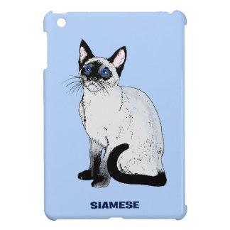 Gato siamés iPad mini carcasas