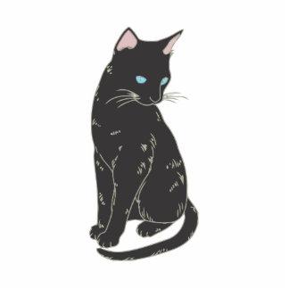 Gato siamés negro escultura fotográfica