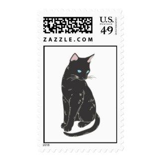 Gato siamés negro sello