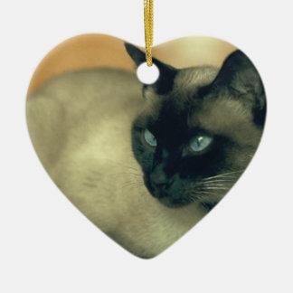 Gato siamés ornamentos de reyes magos