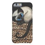 Gato siamés por el caso del iPhone 6 de Bihrle Funda De iPhone 6 Barely There