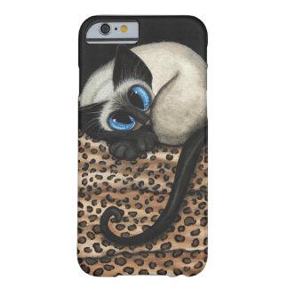 Gato siamés por el caso del iPhone 6 de Bihrle Funda Para iPhone 6 Barely There
