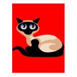 Gato siamés tarjetas postales