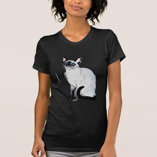 Gato siamés tee shirt