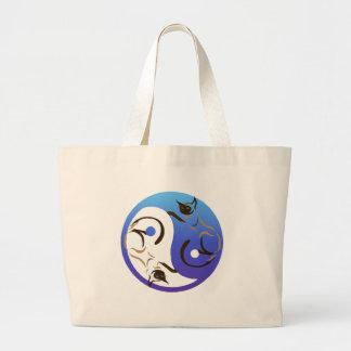 Gato siamés Yin y bolso de Yang Bolsa Tela Grande
