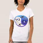 Gato siamés Yin y camiseta de Yang