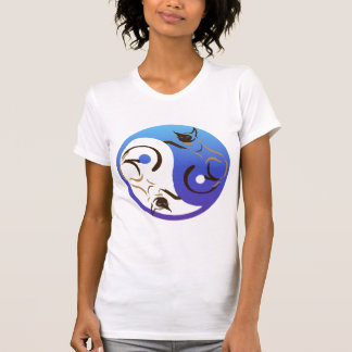 Gato siamés Yin y camiseta de Yang Playeras