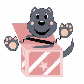 Gato Smokey de Skrunchkin en caja rosada Esculturas Fotográficas