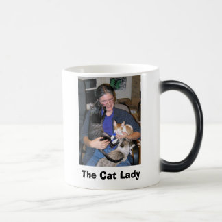gato - smokey y vidrios, la señora del gato taza mágica