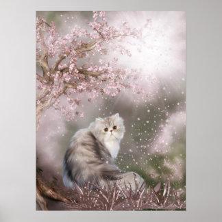 Gato soñador del gatito poster