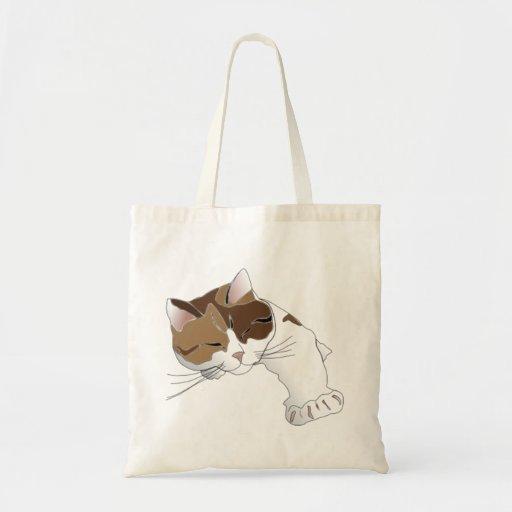Gato soñoliento bolsas