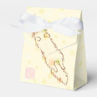 Gato soñoliento mullido cajas para regalos